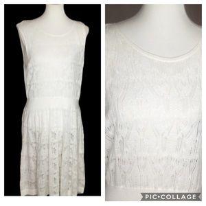 Simply Vera crochet white sleeveless dress SZ XL